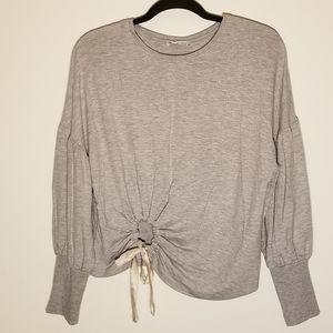 Zara  drop shoulder puffy sleeve blouse
